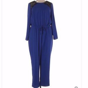 CeCe by Cynthia Steffe Blue Jumpsuit